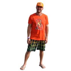 Tričko oranžové se lvem